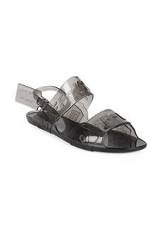 Off-White Zip-Tie Jelly Sandals