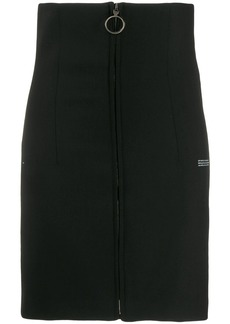 Off-White zipped fitted skirt