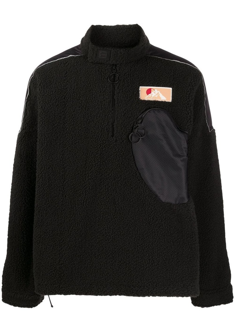 Off-White zipped pocket fleece jumper