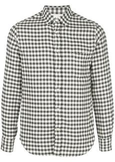 Officine Generale brushed flannel check shirt