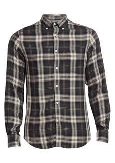 Officine Generale Button-Down Plaid Shirt