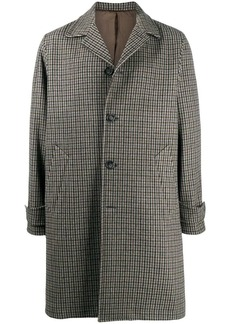 Officine Generale buttoned up check pattern coat
