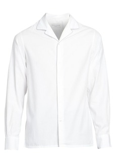 Officine Generale Dario Long-Sleeve Piping Trim Shirt