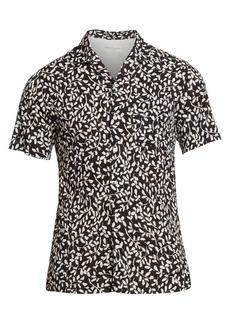 Officine Generale Dario Printed Voile Shirt