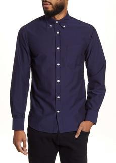 Officine Generale Officine Générale Antime Slim Fit Solid Oxford Button-Down Shirt