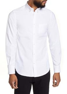 Officine Generale Officine Générale Antime Slim Fit Solid Oxford Button-Up Shirt