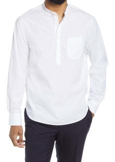 Officine Generale Officine Générale Auguste Slim Fit Popover Shirt