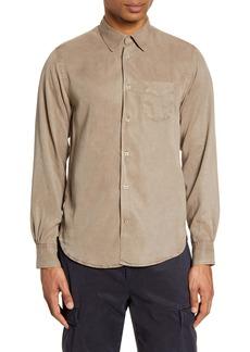 Officine Generale Officine Générale Benoit Pigment Dyed Button-Up Shirt