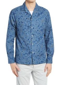 Officine Generale Officine Générale Dario Floral Cotton & Linen Button-Up Shirt