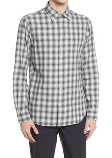 Officine Generale Officine Générale Giacomo Check Long Sleeve Button-Up Shirt