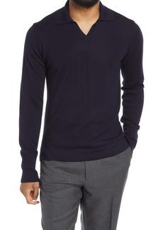 Officine Generale Officine Générale Men's Simone Merino Wool Long Sleeve Polo Shirt
