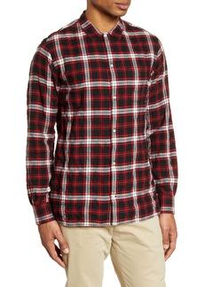 Officine Generale Officine Générale Plaid Button-Up Flannel Shirt