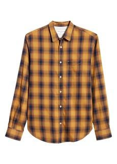 Officine Generale Officine Générale Plaid Button-Up Shirt