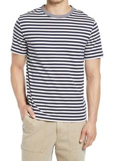 Officine Generale Officine Générale Stripe Crewneck T-Shirt