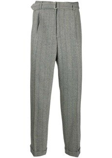 Officine Generale striped straight-leg trousers