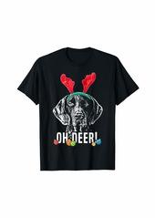 Oh DEER! Oh Deer Funny German Shorthaired Pointer Xmas T-Shirt