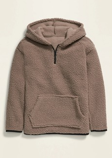Old Navy 1/4-Zip Sherpa Pullover Hoodie for Boys