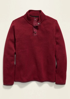 Old Navy 1/4-Zip Snap-Neck Sweater-Knit Pullover for Boys