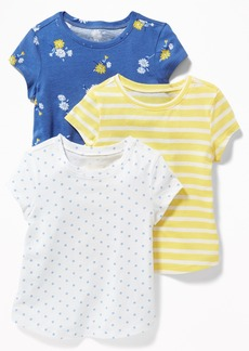 Old Navy 3-Pack Long & Lean Tees for Toddler Girls
