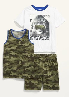 Old Navy 3-Piece Graphic Pajama Set for Boys