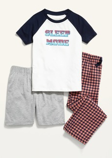 Old Navy 3-Piece Graphic Pajama Tee, Pants and Shorts Set for Boys