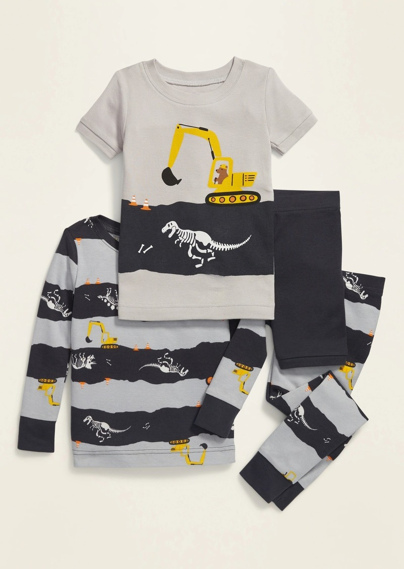 Old Navy 4-Piece Dino-Print Pajama Set for Toddler & Baby
