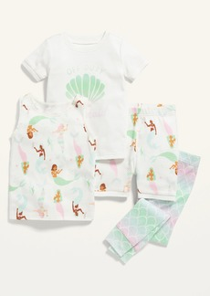 Old Navy Unisex 4-Piece Graphic Pajama Set for Toddler & Baby