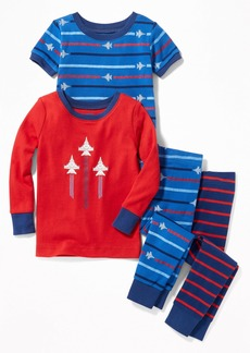 Old Navy 4-Piece Jet-Graphic Sleep Set for Toddler Boys & Baby