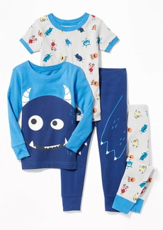 Old Navy 4-Piece Monster-Graphic Sleep Set for Toddler Boys & Baby