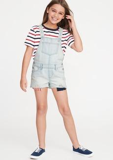 Old Navy Americana Distressed Denim Shortalls for Girls