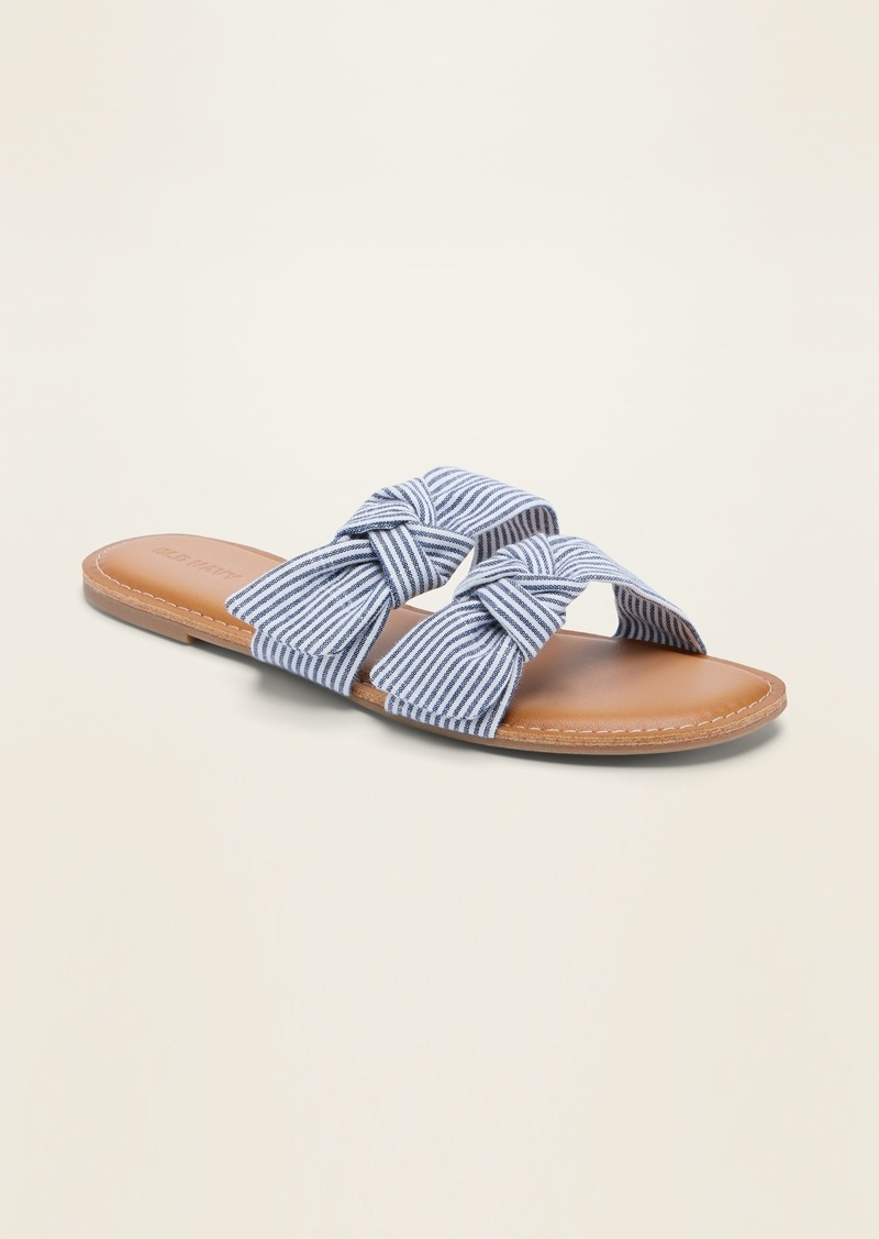 Old Navy Asymmetric Double-Bow Slide Sandals for Women