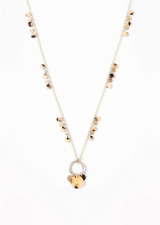 Old Navy Beaded Disc Charm Necklace for Women