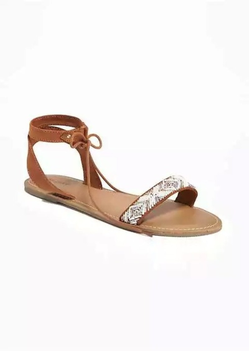 c7fdf64a9926a8 Old Navy Beaded Lace-Up Sandals for Women