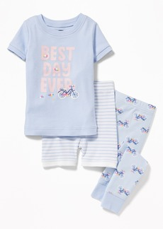 """Old Navy """"Best Day Ever"""" 3-Piece Sleep Set For Toddler Girls & Baby"""