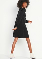 Old Navy Black Chambray Ruffle-Yoke Shirt Shift Dress for Women