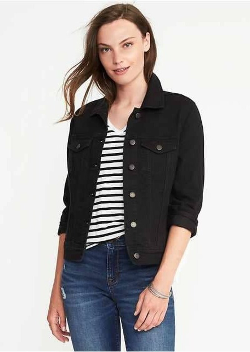 f47953a4303e9 Old Navy Black Denim Jacket for Women | Outerwear