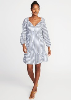 Old Navy Boho Tassel-Tie Swing Dress for Women