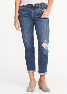 Old Navy Mid-Rise Boyfriend Straight Distressed Jeans for Women
