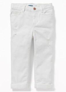 Old Navy Boyfriend Distressed White Jeans for Toddler Girls