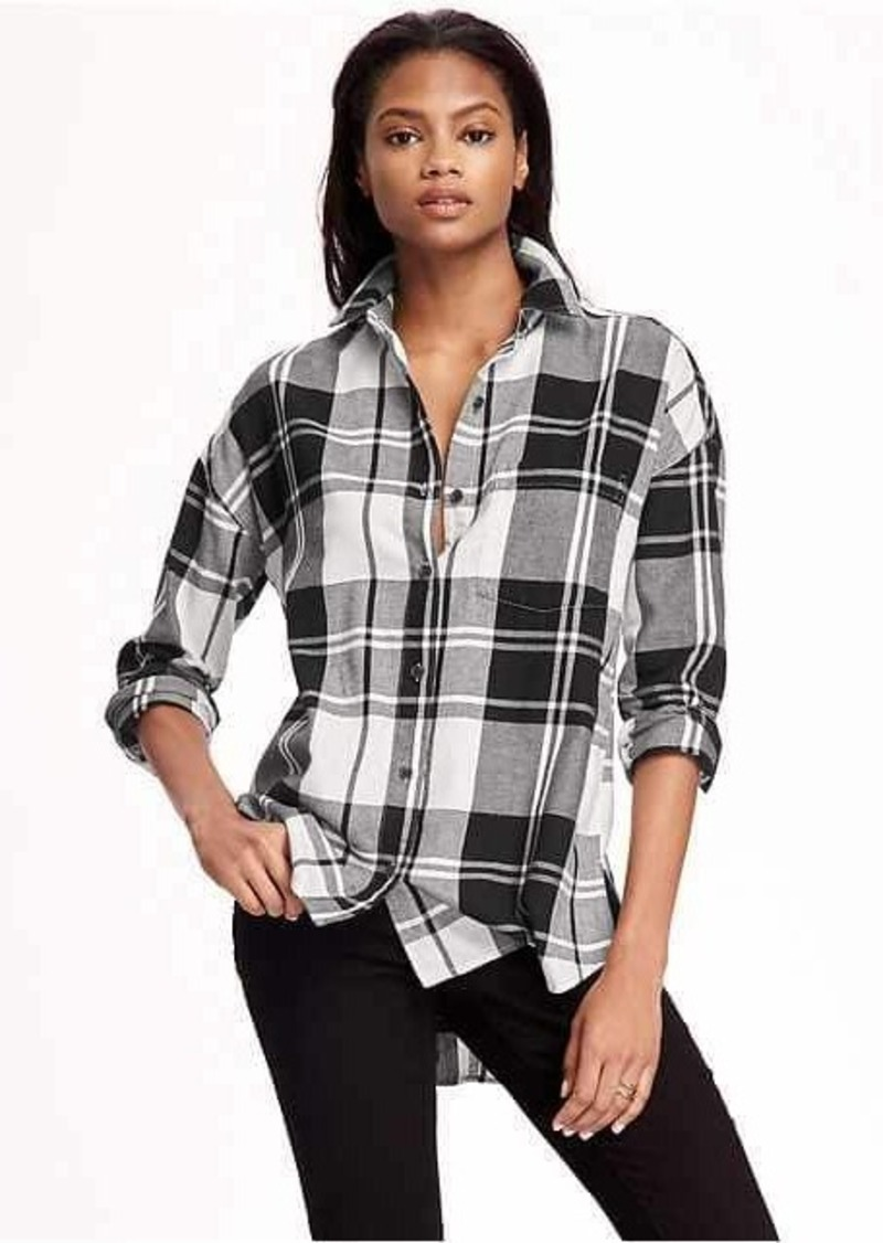 Old Navy Boyfriend Flannel Shirt for Women | Casual Shirts - Shop ...