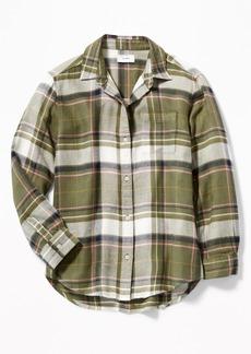 Old Navy Boyfriend Plaid Tunic Shirt for Girls