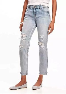Old Navy Boyfriend Straight Distressed Jeans for Women
