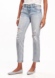Boyfriend Straight Distressed Jeans for Women
