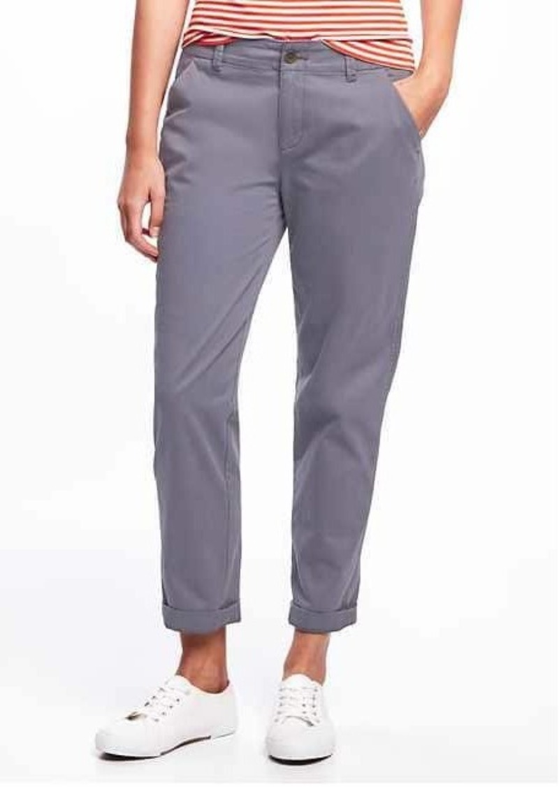 on feet images of first look uk availability Old Navy Boyfriend Straight Khakis for Women