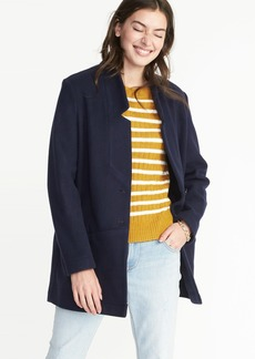 Brushed-Knit Coat for Women