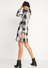 Old Navy Buffalo Plaid Flannel Swing Shirt Dress for Women