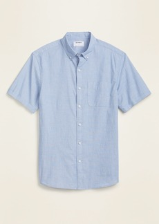 Old Navy Built-In Flex Printed Everyday Short-Sleeve Shirt for Men