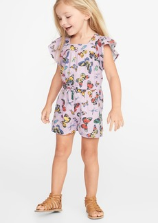 Old Navy Butterfly-Print Linen-Blend Romper for Toddler Girls