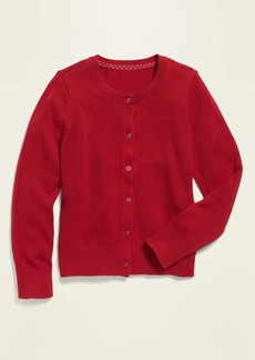 Old Navy Button-Front Crew-Neck Cardigan for Girls
