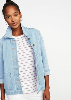 Old Navy Button-Front Denim Chore Jacket for Women